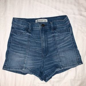 tight fitted denim shorts